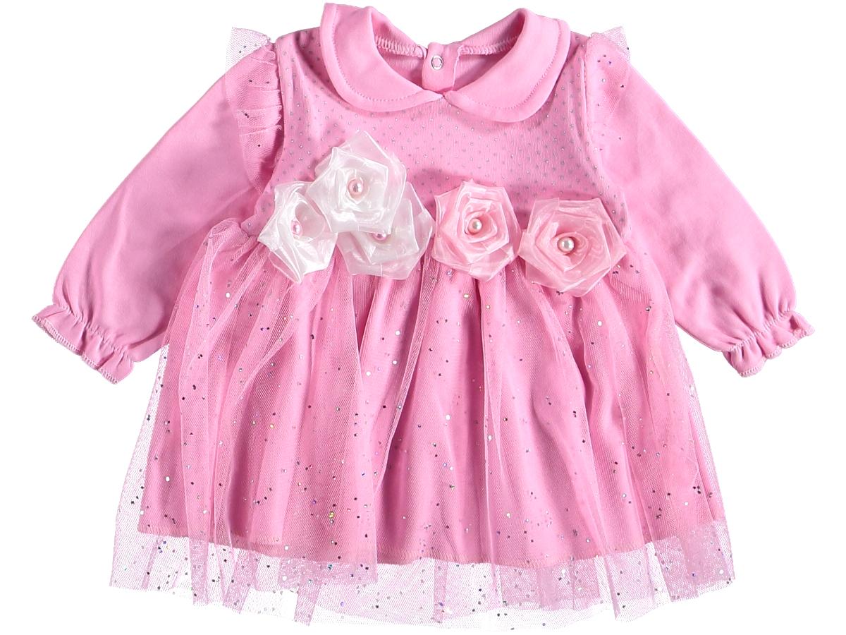 Платье нарядное 6-9 мес пышное розовое 316536