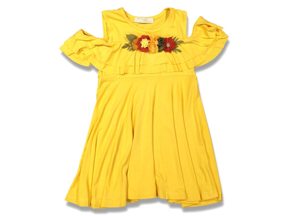Платье на девочку жёлтый 5/8 лет 99639