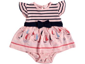 Боди платье морское персиковое 321440
