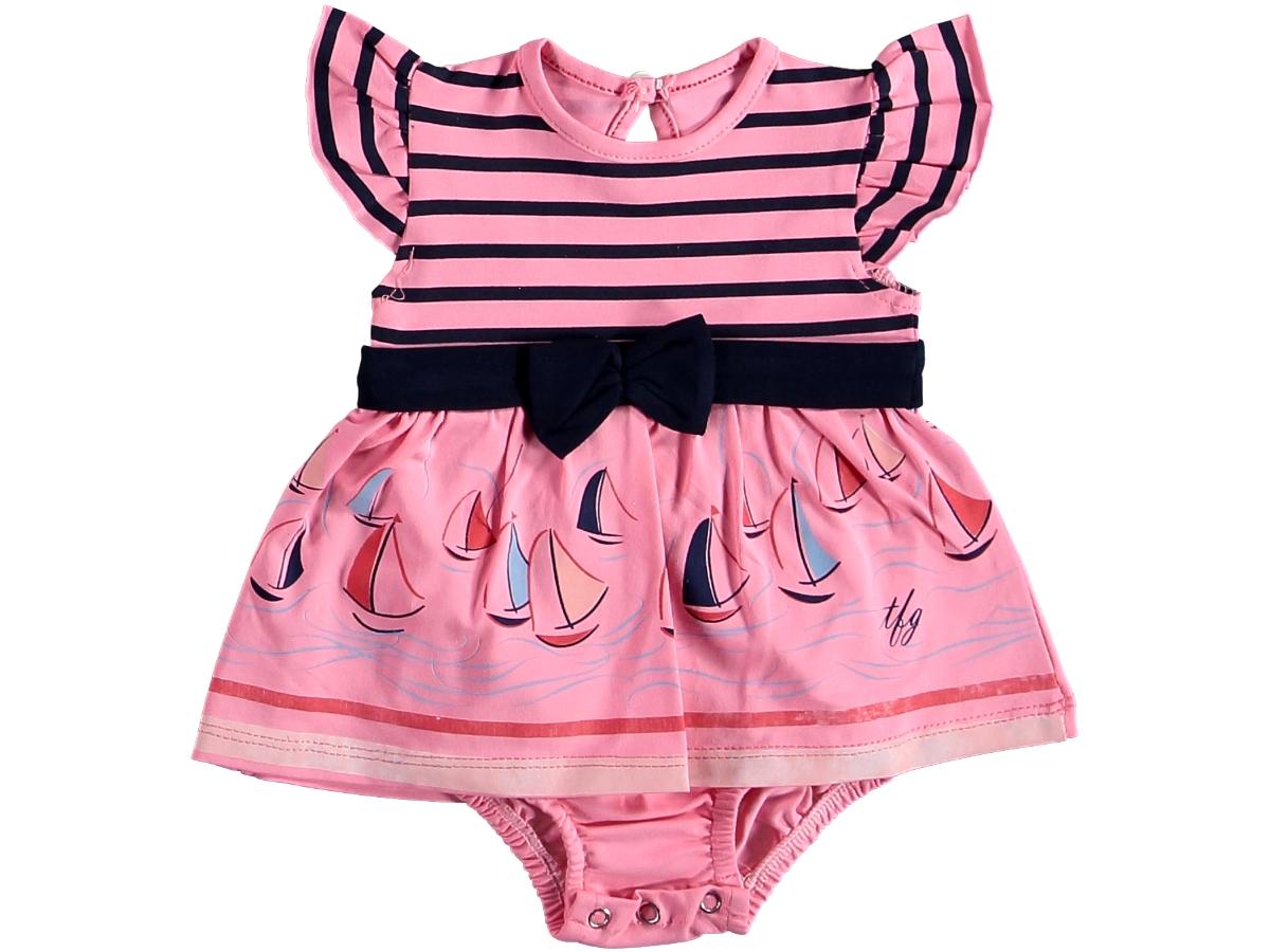 Боди платье морское розовое 321440